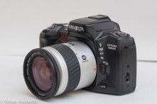 Minolta Dynax 700si 35mm autofocus - Side view showing additional controls