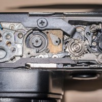 Fixing an Olympus OM2 Spot Program stuck shutter