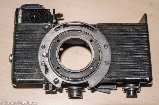 Werra Mat strip down and refurbishment - camera body with shutter/lens removed