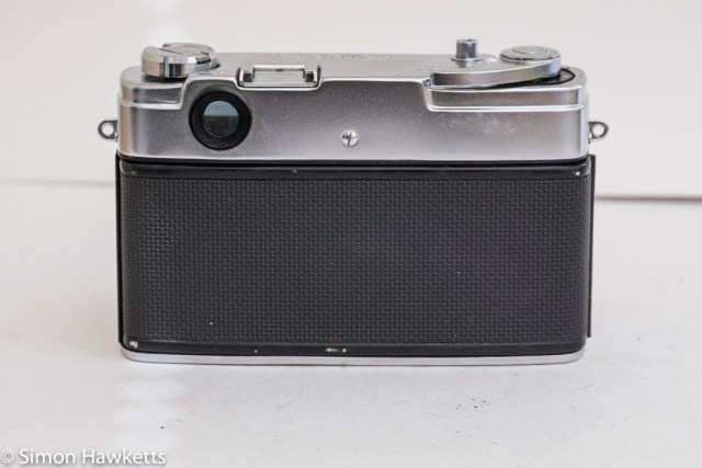 Yashica J 35mm rangefinder camera showing back of camera