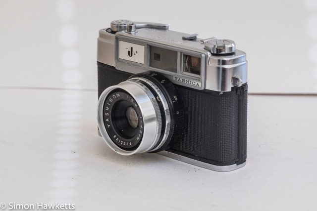 Yashica J 35mm rangefinder camera side view
