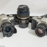 Pentax MZ-3 and Pentax MZ-M with Tamron 90mm macro lens