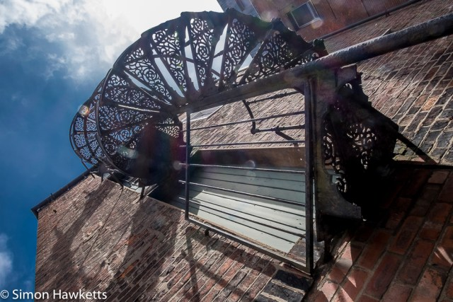 Lincoln city pictures with fuji x-t1 - spiral staircase