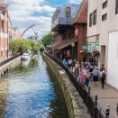 Lincoln city pictures with fuji x-t1 - The river Witham