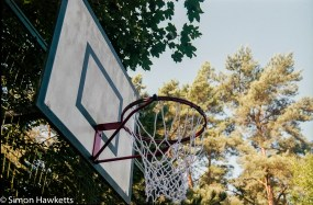 Elveden Forest Centerparcs on film - netball hoop