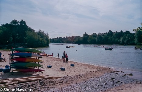 Elveden Forest Centerparcs on film - The lake at sunset