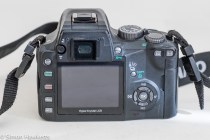 Olympus evolt E500 dslr - rear view