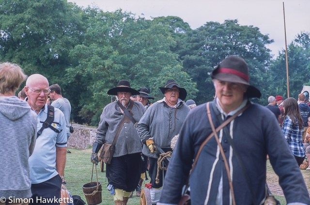 Precisa ct-100 colour  slide film pictures - Battle re-enactment at Tattershall castle