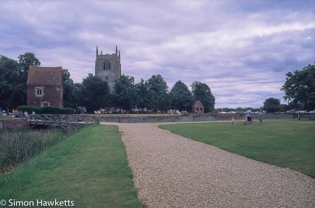 Precisa ct-100 colour  slide film pictures - Church by Tattershall castle