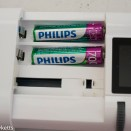 Unipal Plus universal battery charger - AAA batteries fit in these slots