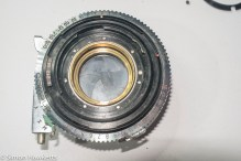 Kodak Retina IIc compur synchro shutter stip down - retaining ring removed