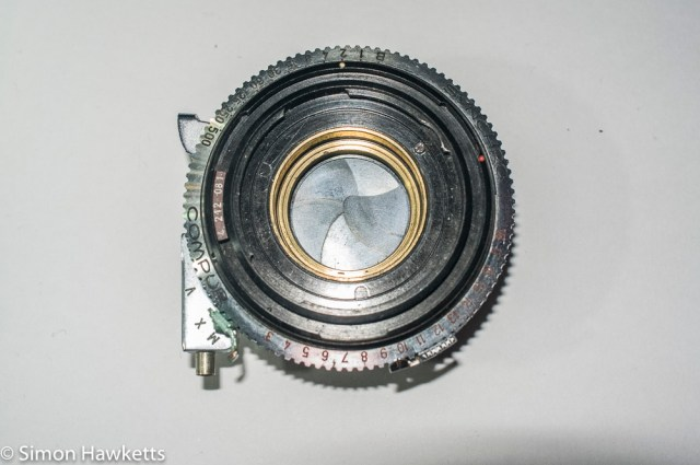 Kodak Retina IIc compur synchro shutter stip down - Shutter removed from camera