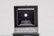 Weltaflex Twin Lens Reflex camera - using the sports finder