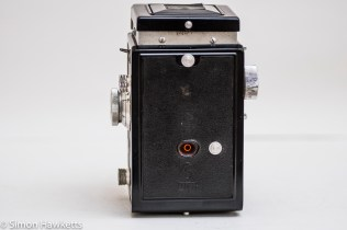 Weltaflex Twin Lens Reflex camera - view of back of camera