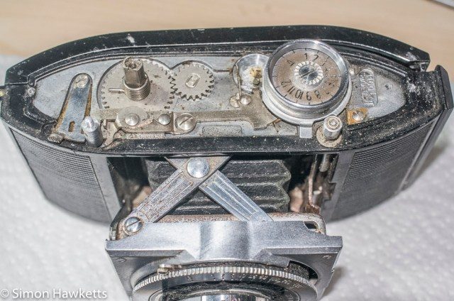Agfa Karat f/3.5 top cover strip down - top cover removed