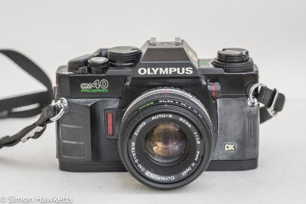 Olympus OM-40 35mm slr - front view with 50mm f/1.8 lens