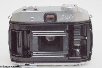 Balda Baldamatic I 35mm rangefinder camera - film chamber open