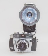 Balda Baldamatic I 35mm rangefinder camera with agfalux flash