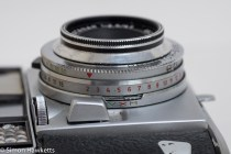 Balda Baldessa 1B 35mm rangefinder camera - exposure setting with the EV markings