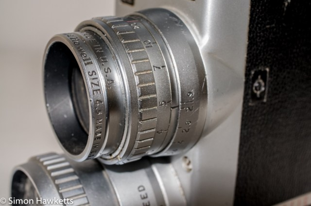 Bell & Howell 200EE cine camera - focus and aperture