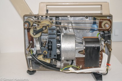 Eumig P8 Dual projector - rear cover removed
