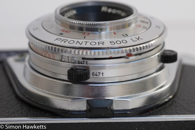 Kodak Retinette 1B 35mm viewfinder camera - self timer setting