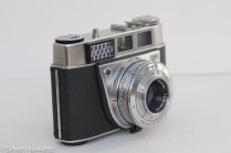 Kodak Retinette 1B 35mm viewfinder camera - side view showing light cell and flash sync