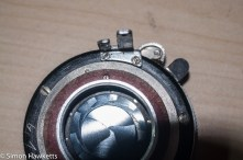 Agfa Karat 12 re-assembly - shutter location pin and paper washers