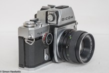 Ricoh TLS 401 35mm slr - side view showing shutter speed and self timer