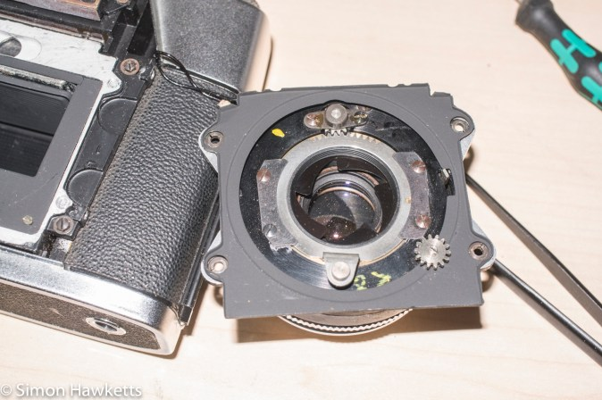 Agfa Colorflex shutter removal - shutter off camera