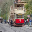 Crich tramway museum - twin level tram