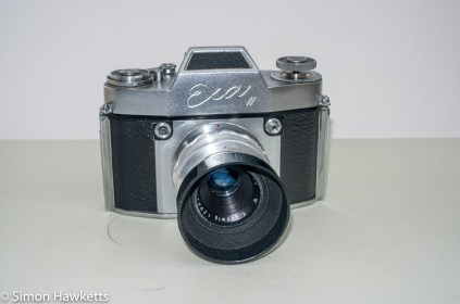 Exakta Exa II 35mm slr camera - front view