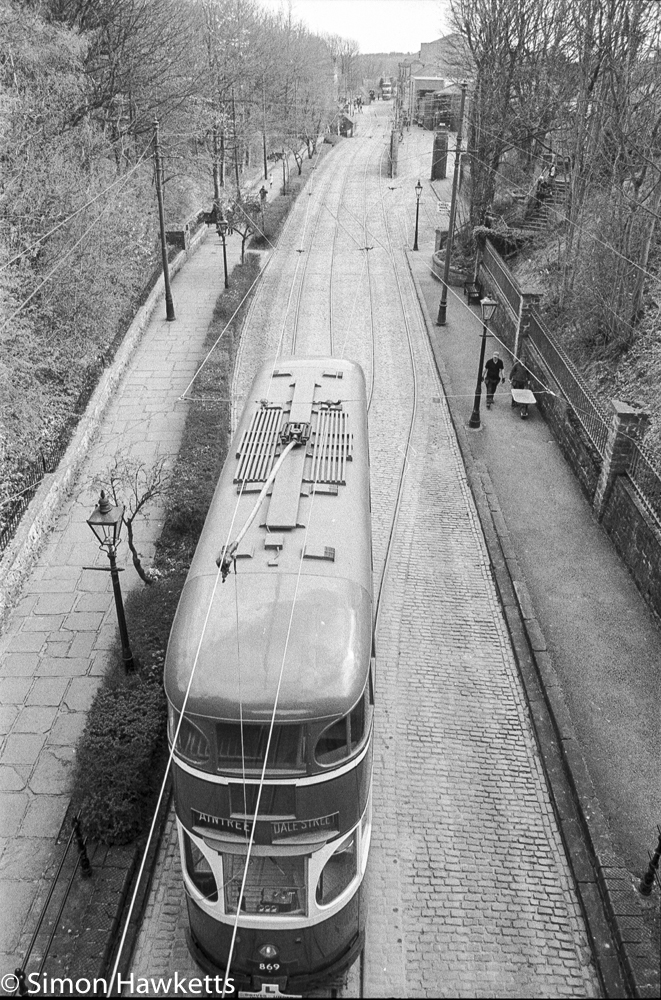 Pentax MZ-3 and Ilford HP5+ - Looking down on trams