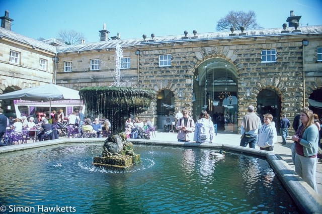 Pentax Z-1P & Agfa CT-100 slide film - Chatsworth house courtyard fountain