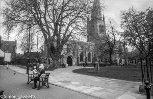 Pentax Program A sample pictures - Seat outside Chesterfield church
