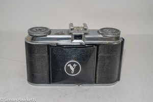 Voigtlander Vito 35mm folding camera - front view with lens collapsed