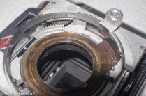 Agfa Karat IV film focus cleaning - marked the cocking ring teeth