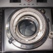 Agfa Karat IV shutter repair - undoing the retaining ring