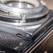 Agfa Karat IV shutter repair - unscrewing the aperture scale