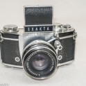 Exakta Varex IIa 35mm slr - Front view with waist level finder fitted