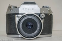 Ihagee Exakta IIa 35mm camera - front view with Tessar 50mm f/2.8 fitted