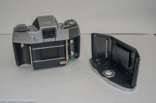 Ihagee Exakta IIa 35mm camera - rear view with back