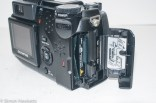 Olympus Camedia C-5050 digital camera - Data card door