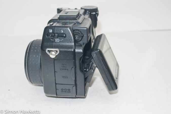 Olympus Camedia C-5050 digital camera - LCD pulled out