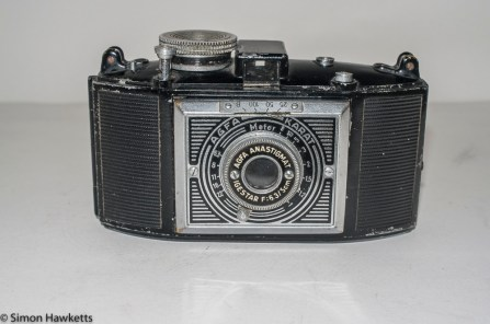 Agfa Karat 6.3 Art Deco - Front view with lens unit in