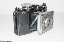 Agfa Karat 6.3 Art Deco - Side view showing shutter release strut