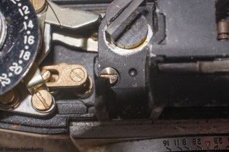 Stripping down a Beauty Beaumat - rangefinder retaining screw