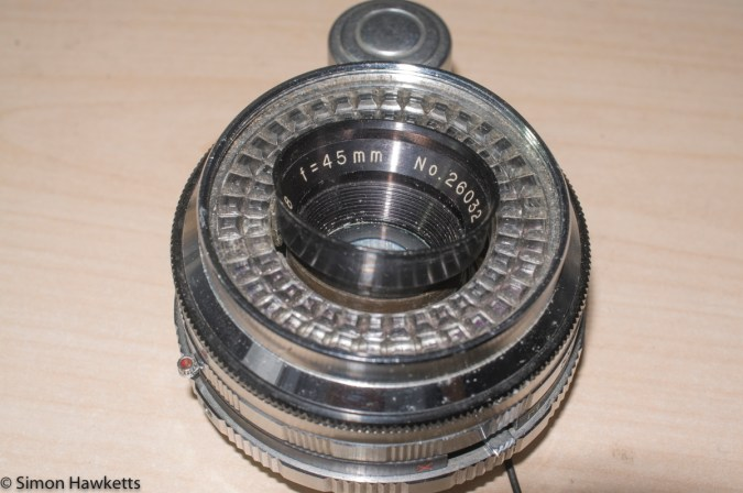 Stripping down a Beauty Beaumat - removing the front lens element