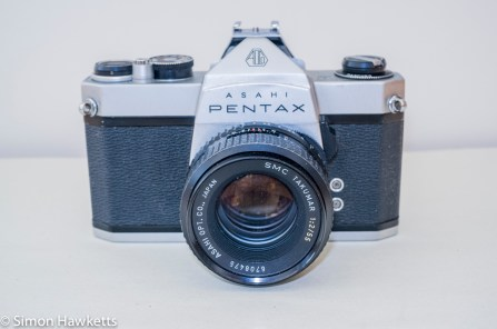 Pentax Spotmatic SP-500 35mm slr - Front of camera with Takumar 55mm f/2