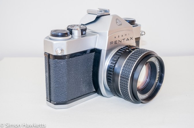 Pentax Spotmatic SP-500 35mm slr - Side of camera